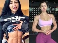 Khó ai xem thường nổi múi cơ lượn sóng của 3 hot girl phòng gym Hàn