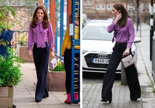 Lên đồ như nàng công sở thứ thiệt, Công nương Kate được khen nức nở dù chọn màu áo siêu khó nhằn-1