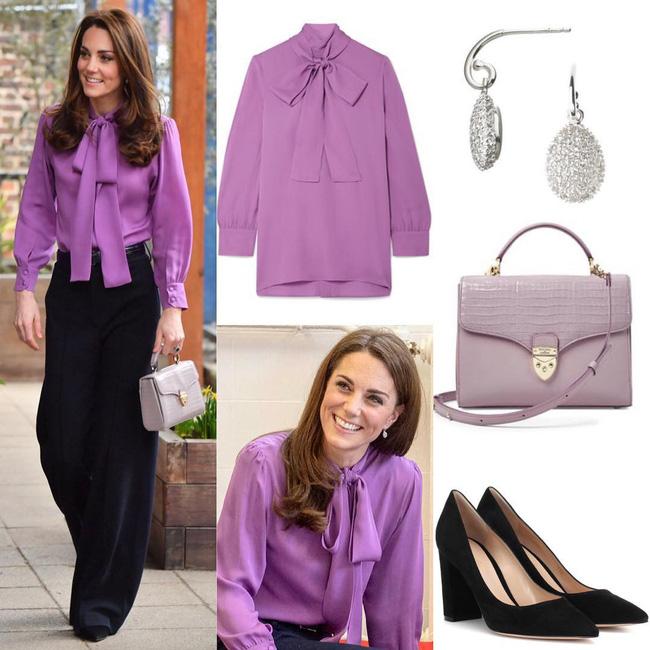 Lên đồ như nàng công sở thứ thiệt, Công nương Kate được khen nức nở dù chọn màu áo siêu khó nhằn-3