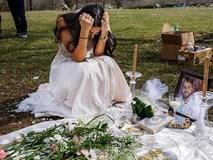 Cô gái mặc váy cưới khóc nức nở bên mộ chồng sắp cưới và câu chuyện bi thảm đằng sau