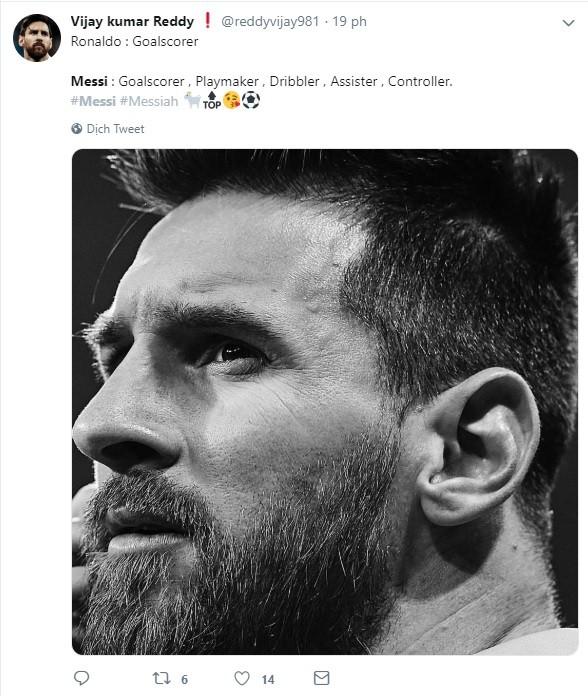 Dân mạng kêu gào sau màn trình diễn thần thánh của Messi: Anh và Ronaldo xin đừng bắt chúng tôi phải so sánh ai giỏi hơn nữa!-2