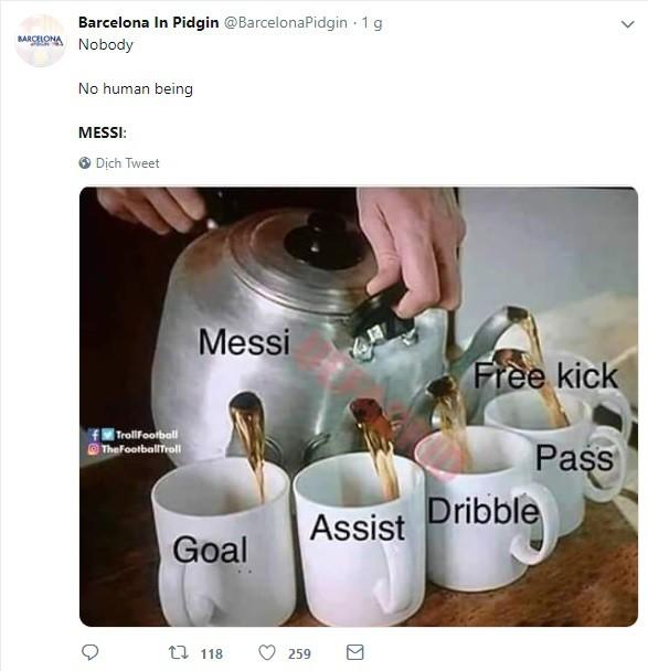 Dân mạng kêu gào sau màn trình diễn thần thánh của Messi: Anh và Ronaldo xin đừng bắt chúng tôi phải so sánh ai giỏi hơn nữa!-3
