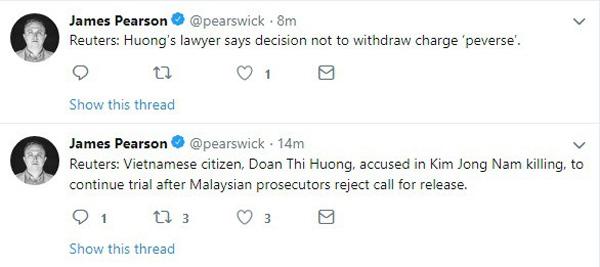 NÓNG: Công tố viên từ chối đề nghị thả tự do cho Đoàn Thị Hương, phiên xét xử tiếp theo vào ngày 1/4-1