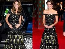 """Kate Middleton đã đạt đỉnh cao tiết kiệm trang phục giống Công nương Diana, khiến dân tình """"phục lăn"""" vì chế lại váy quá sức tài tình"""