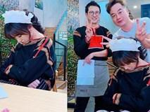 Hiếm lắm mới bình luận bài viết của Hari Won, Trấn Thành nói thế này khi bà xã ngủ gật ở trường quay