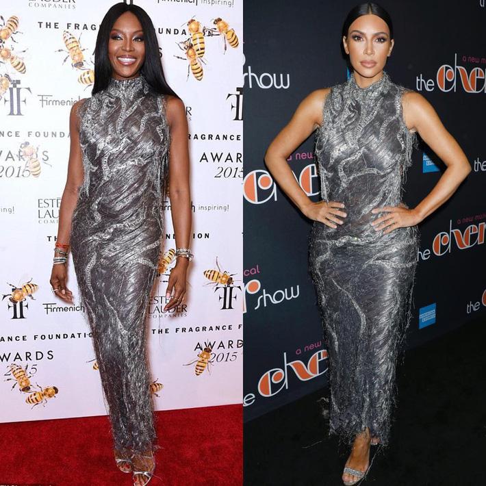 Kim Kardashian liên tiếp copy lại phong cách của Naomi Campbell nhưng lại đem đến ấn tượng hoàn toàn khác-3
