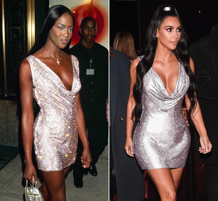 Kim Kardashian liên tiếp copy lại phong cách của Naomi Campbell nhưng lại đem đến ấn tượng hoàn toàn khác-5