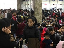 Gần 100 trẻ nhiễm sán lợn ở Bắc Ninh: Thêm hàng trăm trẻ tới Hà Nội xếp hàng để xét nghiệm