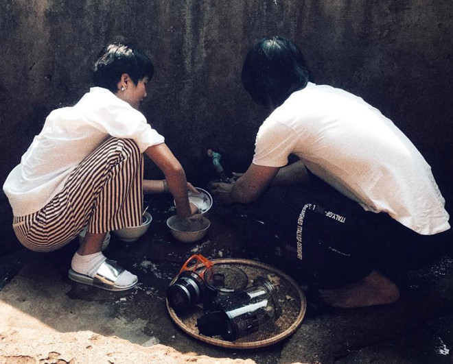 Hoa hậu HHen Niê nấu nướng, rửa bát khi về thăm nhà ở Đắk Lắk-7