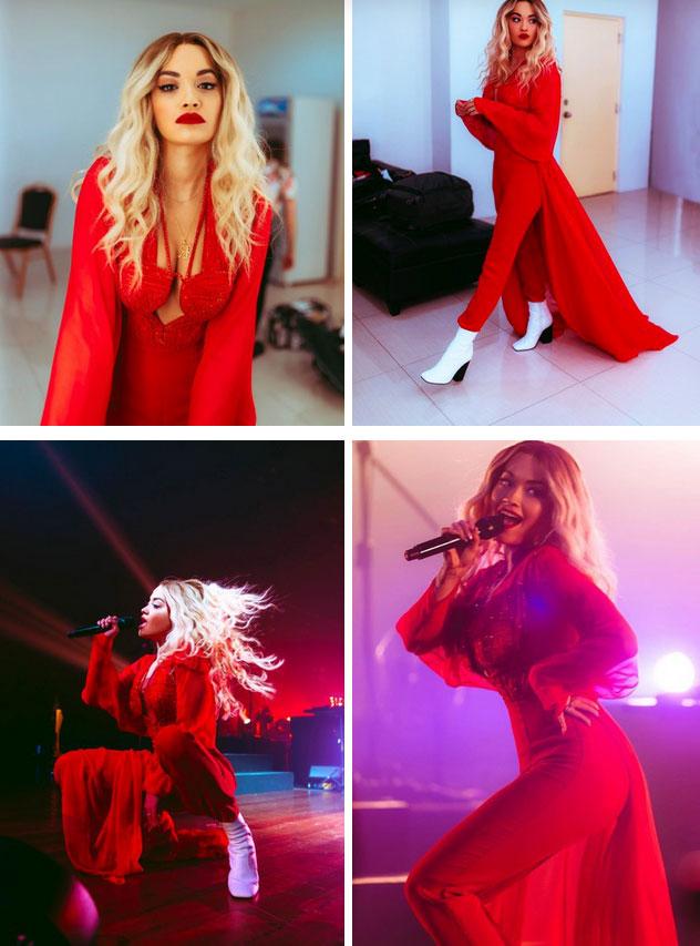 Ca sĩ Rita Ora diện thiết kế của Công Trí thổi tung sân khấu trong tour diễn Pheonix-4