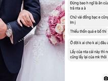 Đi công tác không kịp về dự đám cưới, anh chàng chết điếng khi nhận được tin nhắn đòi phong bì của vợ bạn: