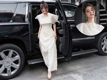 Hoa hậu Jolie Nguyễn ngồi xế hộp 10 tỷ đi chấm thi
