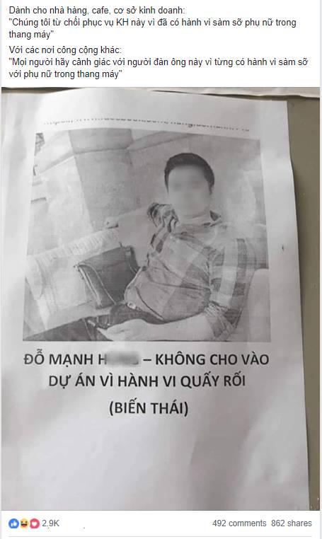 Cửa hàng từ chối phục vụ, cư dân kêu gọi dán hình kẻ dê xồm sàm sỡ nữ sinh trong thang máy để cảnh báo-2