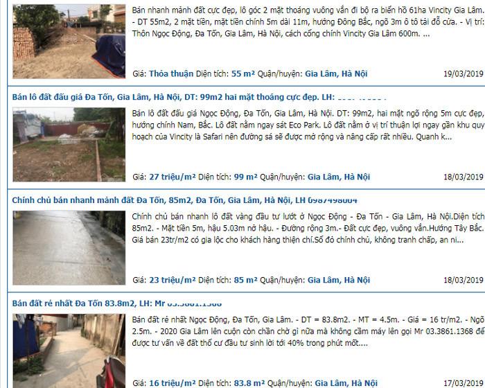 Cơn sốt phía Đông: Đất Trâu Quỳ - Gia Lâm 150 triệu/m2, tin được không-1