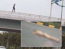 Cô gái nước ngoài khỏa thân rơi từ cầu vượt gần sân bay Nội Bài xuống đất nguy kịch