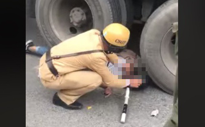 Cô gái bị bánh xe container chèn lên người - hiện trường vụ tai nạn ám ảnh nhất chiều nay-1