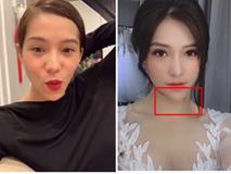 Lưu Đê Li 'thả thính' cuối năm lấy chồng nhưng antifan chỉ tập trung vào chiếc cằm lệch sang 1 bên như quả xoài