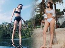 Cũng là bikini 2 mảnh, nhưng Chi Pu lại trở thành hai người hoàn toàn khác nhau