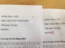 Chỉ thêm 1 dấu chấm vào mã đề thi, giáo viên khiến học sinh điêu đứng vì làm giống nhau mà kẻ 10 điểm, người 3 điểm