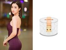 Có ai mà sang chảnh như Hoa hậu Đỗ Mỹ Linh, chi 30 triệu đồng mua túi hiệu chỉ để đựng hoa quả