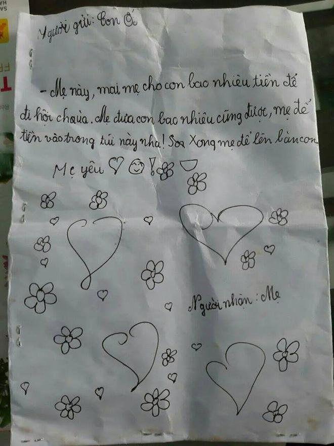 Bé gái viết thư xin tiền mẹ đi chơi khiến dân mạng tan chảy: Mẹ cho con bao nhiêu cũng được, mẹ để vào trong túi này nha-2