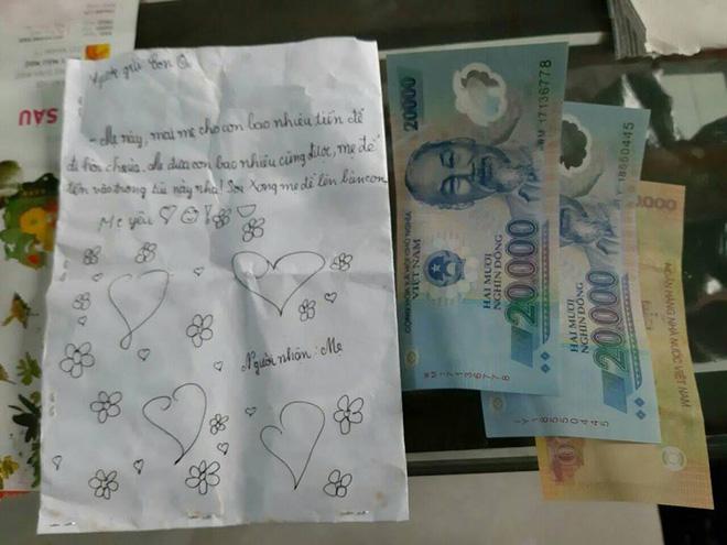 Bé gái viết thư xin tiền mẹ đi chơi khiến dân mạng tan chảy: Mẹ cho con bao nhiêu cũng được, mẹ để vào trong túi này nha-3