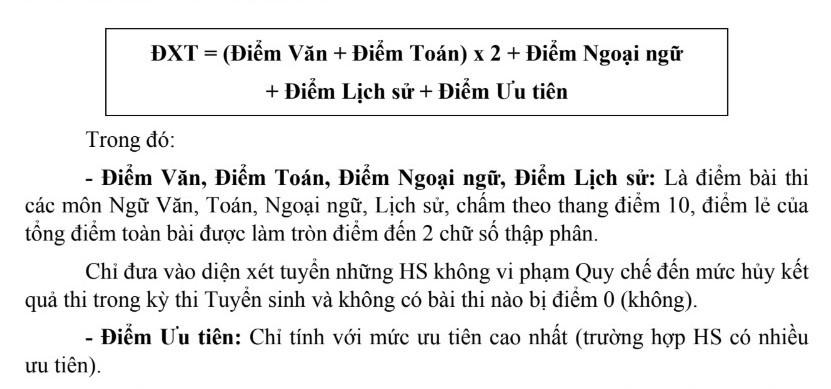Cách tính điểm xét tuyển vào lớp 10 THPT công lập ở Hà Nội năm 2019-1