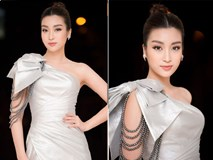 Hoa hậu Mỹ Linh đẹp tựa 'nữ thần' với váy lệch vai khi làm giám khảo