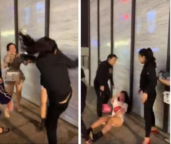 Hà Nội: Bồ nhí bị lột đồ, túm tóc tát dã man ngay giữa phố vì đã giật chồng còn thách thức chị vợ không biết giữ chồng-4