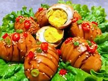 Ăn trứng rán trứng luộc mãi chán rồi, tối nay làm trứng sốt bia cực bắt mắt, đảm bảo ăn xong vẫn thòm thèm