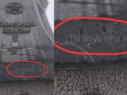 Khắc lời yêu lên cột cờ trên đỉnh Fansipan – hành động đang bị dân mạng 'ném đá' dữ dội