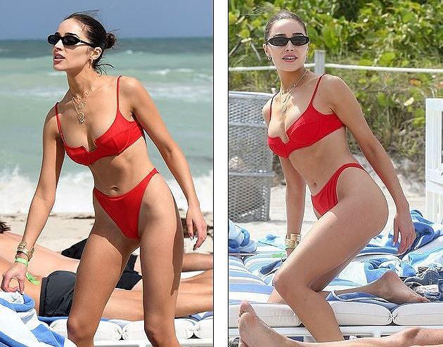 Hoa hậu Hoàn vũ nóng bỏng với bikini trên biển-2