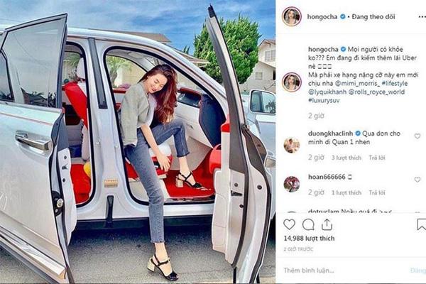 Chán ca hát, Hồ Ngọc Hà lái xe sang Rolls-Royce chạy Uber?-1