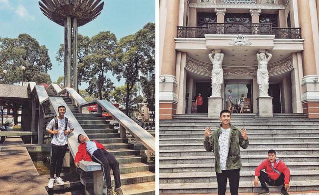 Bộ ảnh du lịch Sài Gòn gây sốt trên MXH, biểu cảm đối lập của 2 nhân vật chính mới gây thích thú-4