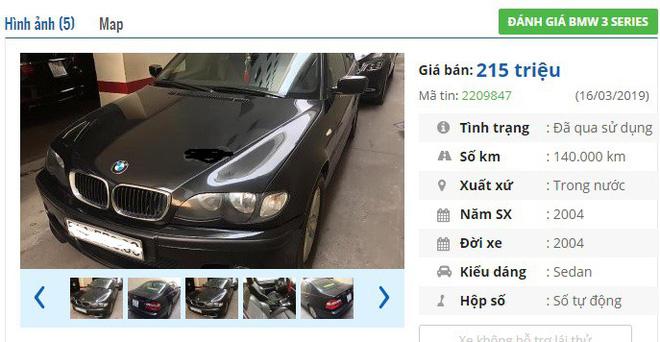 Loạt xe ô tô BMW cũ 'sang chảnh' này đang rao giá 'rẻ như cho' chỉ 200 triệu đồng tại VN-1