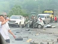 Kinh hoàng xe con đấu đầu với xe tải, tài xế tử vong tại chỗ trên đường Hòa Lạc - Hòa Bình