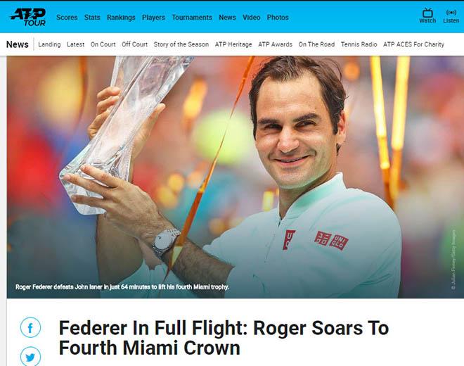"""Federer vô địch Miami Open: Báo chí cạn lời"""", khen Nhà vua quá đẳng cấp-2"""