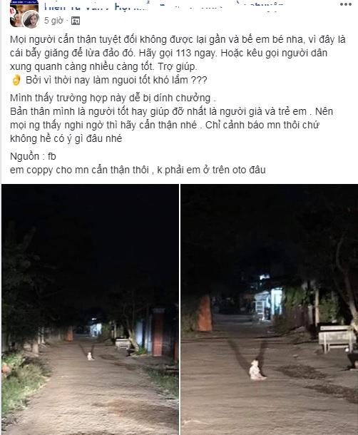 Lái xe đi đêm gặp em bé khóc giữa đường, cộng đồng mạng đồng loạt can ngăn: Đừng giúp!-1