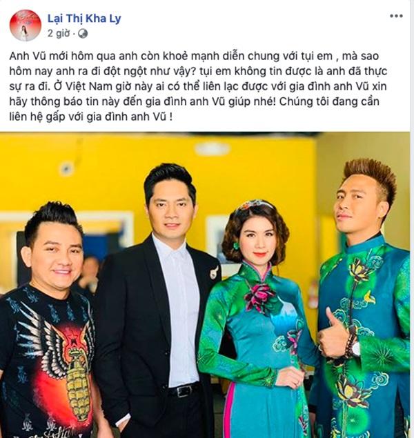Ca sĩ Phương Thanh, Mai Phương cùng loạt nghệ sĩ Việt bàng hoàng trước tin diễn viên hài Anh Vũ qua đời ở tuổi 47-1