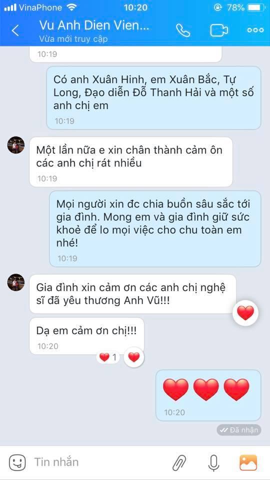 MC Thảo Vân thay mặt nhiều nghệ sĩ miền Bắc gửi tiền phúng viếng đến gia đình nghệ sĩ Anh Vũ-6