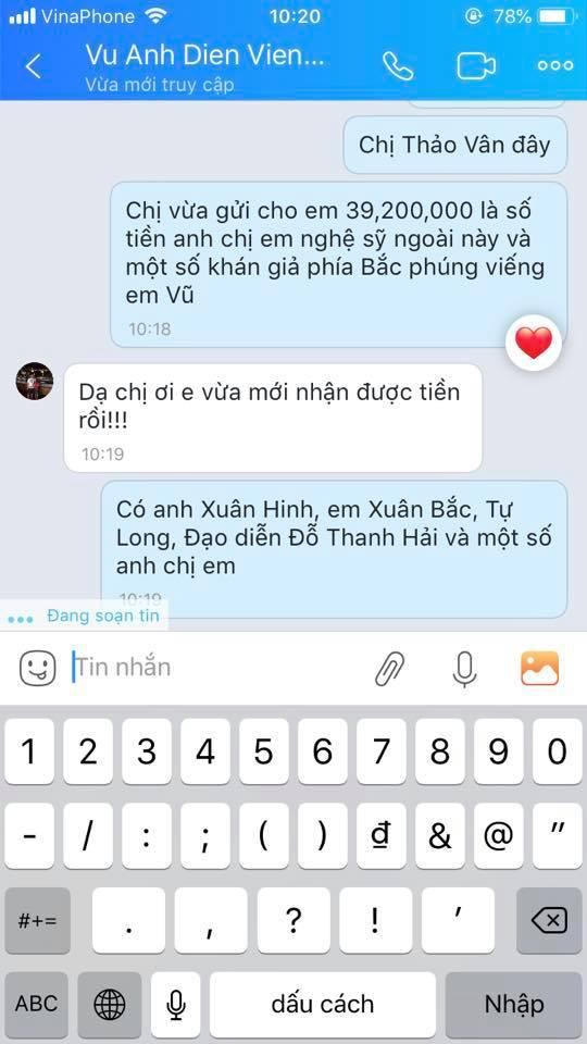 MC Thảo Vân thay mặt nhiều nghệ sĩ miền Bắc gửi tiền phúng viếng đến gia đình nghệ sĩ Anh Vũ-4