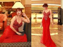 Phi Thanh Vân diện váy bó chẽn sau khi bị chê béo