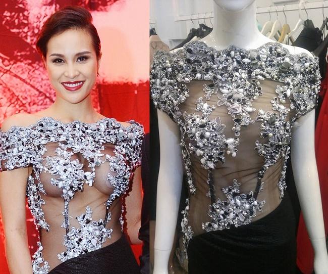Mặc xuyên thấu chơi trội trên thảm đỏ, mỹ nữ Việt khiến quan khách đỏ mặt-7