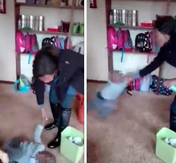 Phẫn nộ với clip giáo viên mầm non bạo hành trẻ em, liên tục đánh vào đầu và quăng quật em như đồ vật-2