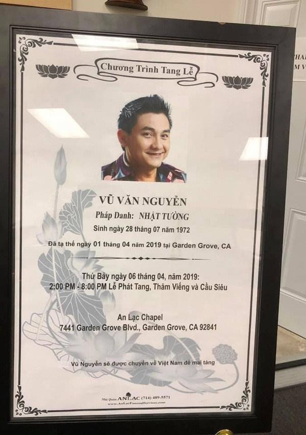 Đám tang nghệ sĩ Anh Vũ đang diễn ra tại Mỹ, bạn bè đồng nghiệp lặng người nói lời tạm biệt sau cùng-2