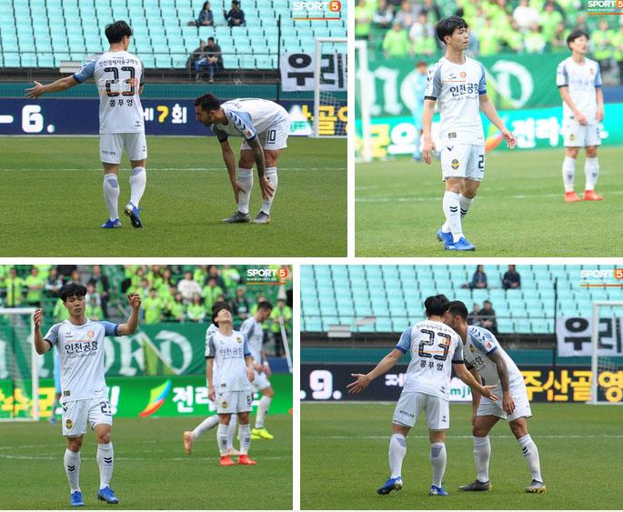 Công Phượng có hành động đẹp với đồng đội trong ngày Incheon United thua trận-8