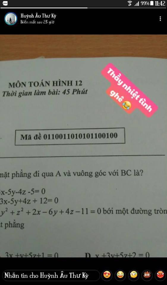 Khi thầy cô sở hữu IQ 200 làm mã đề thi: Chỉ thêm 1 dấu chấm, 1 dấu phẩy cũng khiến học sinh khóc thét-4