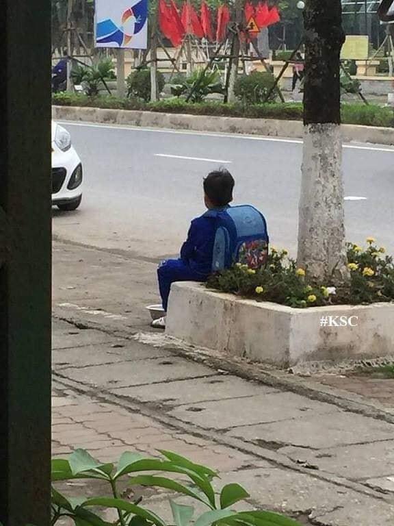 Bé trai ngồi bên đường, bán cà chua không có tâm và lí do phía sau khiến dân mạng bật cười-1