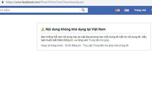 Facebook khóa tài khoản của bà Phạm Thị Yến chùa Ba Vàng-1