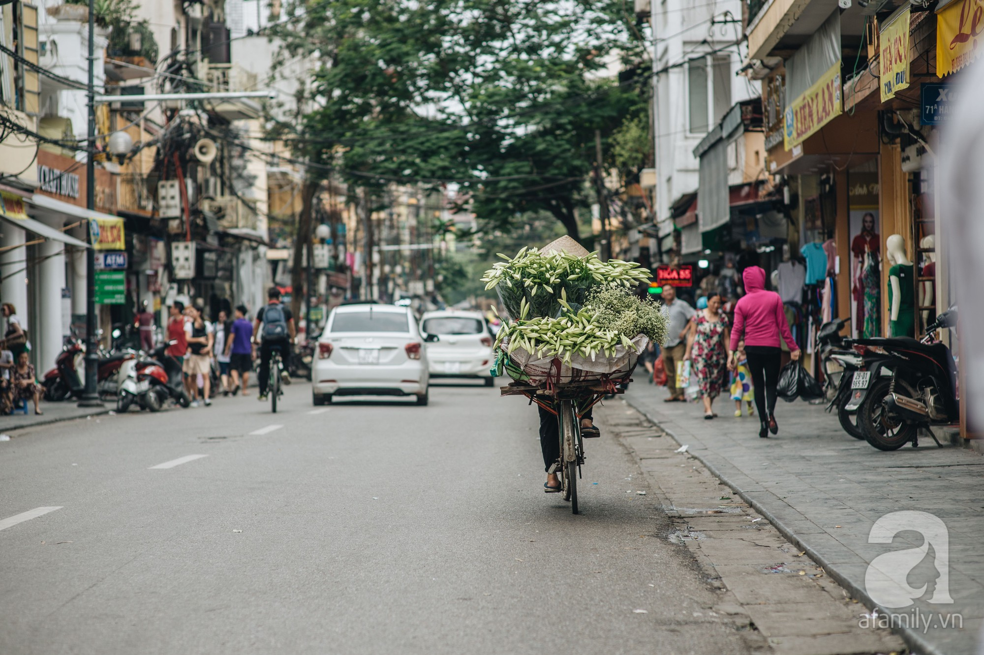Tháng 4 về, Hà Nội lại dịu dàng những gánh loa kèn trắng tinh khôi, thơm nồng nàn khắp các góc phố-12